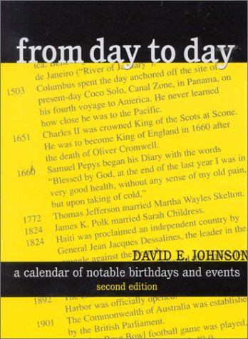 9780810839441: From Day to Day: A Calendar of Notable Birthdays and Events