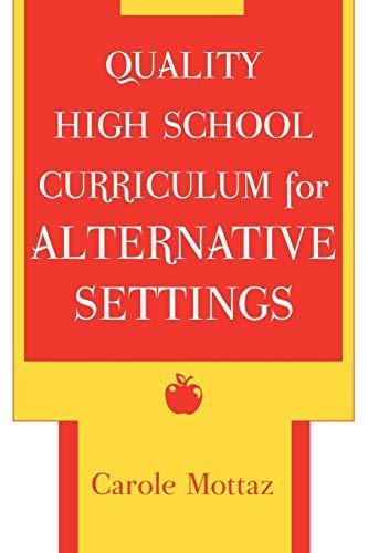 9780810846265: Quality High School Curriculum for Alternative Settings