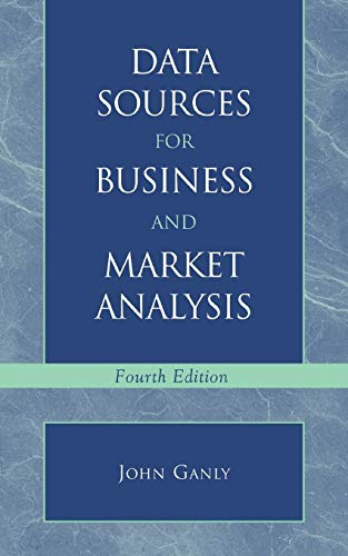 9780810846586: Data Sources for Business and Market Analysis: 4th Ed.