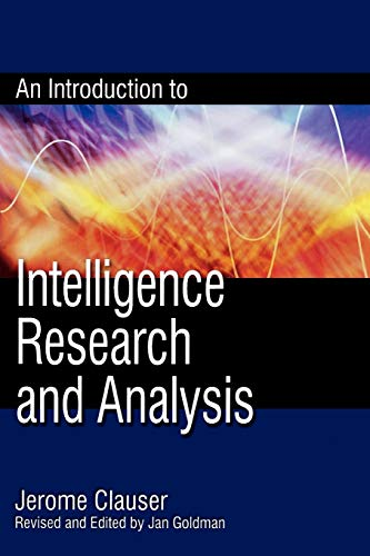 9780810861817: An Introduction to Intelligence Research and Analysis (Security and Professional Intelligence Education Series)
