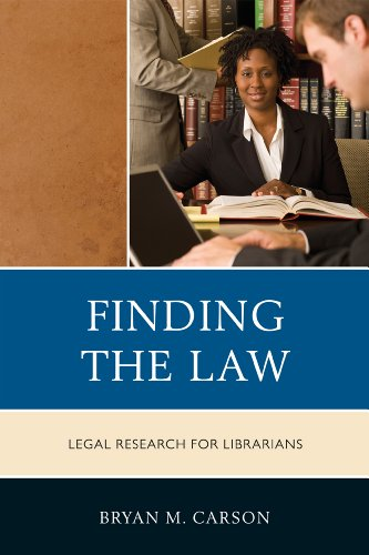9780810881051: Finding the Law: Legal Research for Librarians