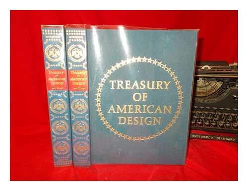 Treasury of American Design (two volumes): A pictorial survey of popular folk arts based upon wat...