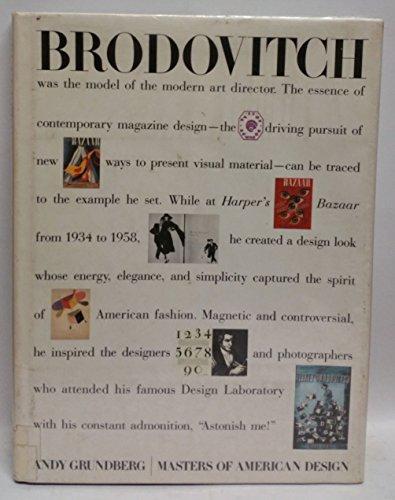 9780810907249: Brodovitch (Masters of American Design)