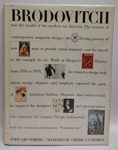 Brodovitch (Masters of American Design): Grundberg, Andy