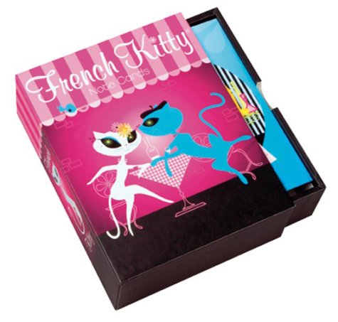 French Kitty Oh L'Amour Note Cards in a Slipcase with Drawer: Mighty Fine Inc.