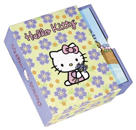 Hello Kitty Hello Flowers! Note Cards in a Slipcase with Drawer: Sanrio Company, LTD.; Glaser, ...