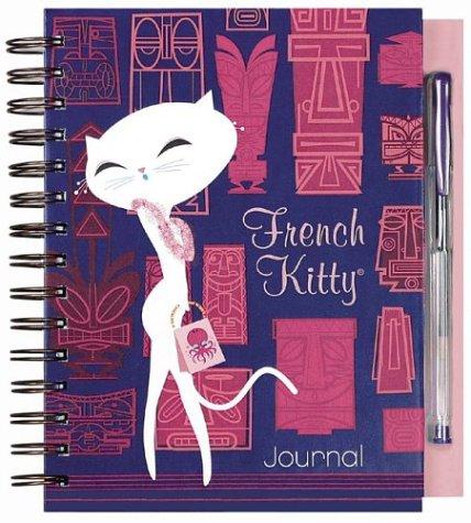French Kitty in Oui, Oui, Waikiki Wire-o Bound Journal with Pen: Mighty Fine Inc.