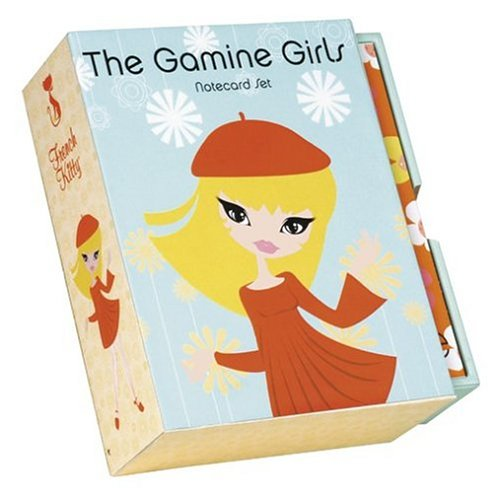 The Gamine Girls: Note Cards in a Slipcase with Drawer: Mighty Fine Inc.