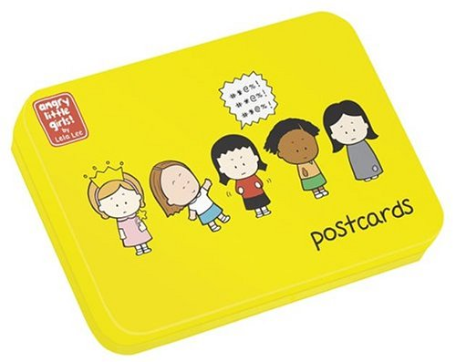 9780810987562: Angry Little Girls!: Postcards (Tin Box)