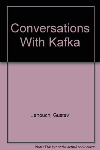 9780811202954: Janouch Conversations with Kafka - Notes and Reminiscenes Cobe