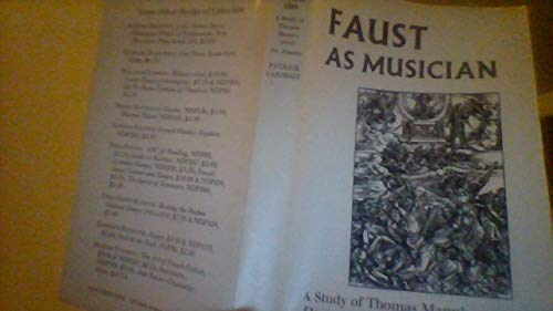 9780811205153: Faust As Musician; A Study of Thomas Mann's Novel Doctor Faustus (A New Directions Book)