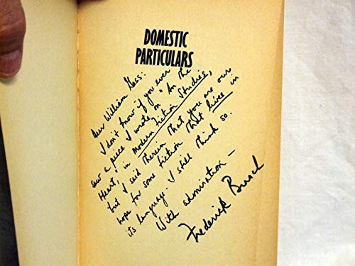 Domestic Particulars: A Family Chronicle BUSCH, Frederick