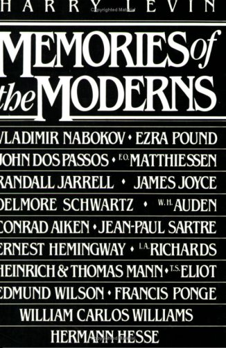 9780811208420: Memories of the Moderns