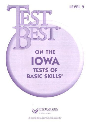 Test Best ITBS: Test Workbook Grade 3 (Level 9): STECK-VAUGHN