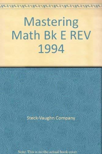 9780811432412: Mastering Math Bk E REV 1994