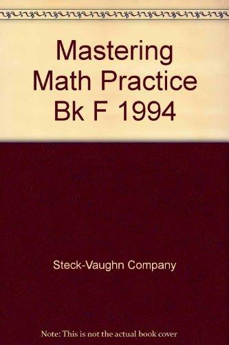 9780811432467: Mastering Math Practice Bk F 1994