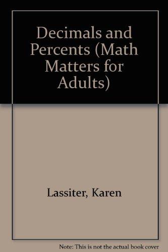 9780811436526: Decimals and Percents (Math Matters for Adults)