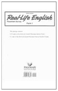 Real-Life English Placement Survey Form 1/Teacher's Guide Answer Key: Various