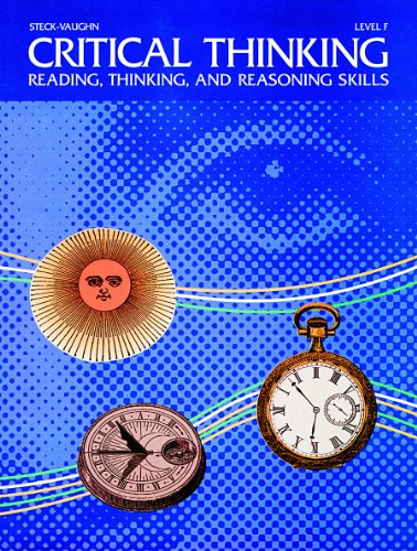 Critical Thinking: Level F : Reading, Thinking,: Donald L. Barnes,