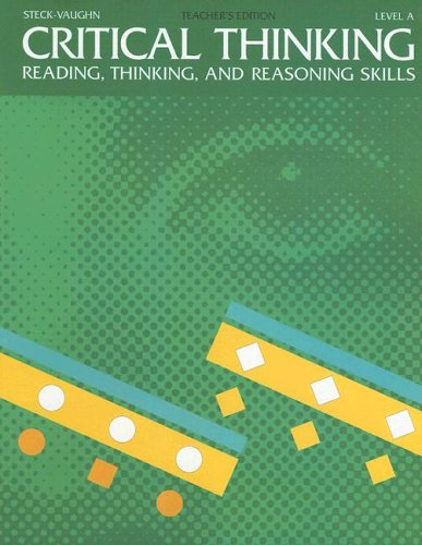9780811466066: Steck-Vaughn Critical Thinking: Softcover Teacher's Edition (Level A) 1993