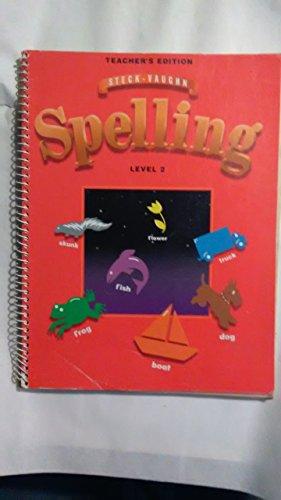 9780811492805: Steck-Vaughn Spelling, Level 2, Teacher's Edition