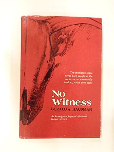 9780811710091: No witness