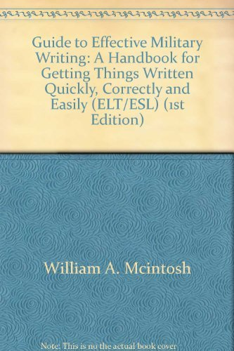 9780811720731: Guide to Effective Military Writing