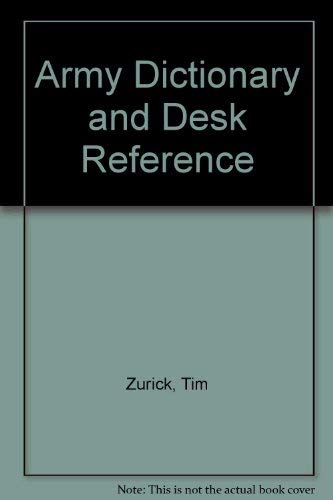 9780811724357: Army Dictionary & Desk Reference
