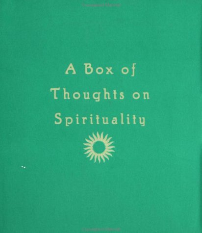 9780811823678: A Box of Thoughts on Spirituality