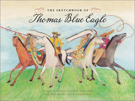 9780811829083: The Sketchbook of Thomas Blue Eagle