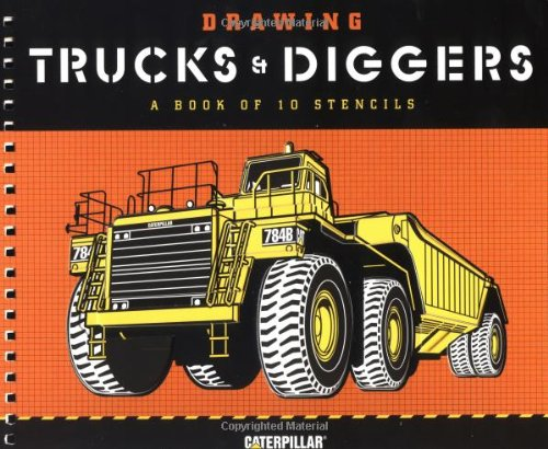 9780811831741: Drawing Trucks and Diggers: A Book of 10 Stencils