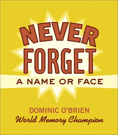 Never Forget a Name or Face (0811836347) by Dominic O'Brien