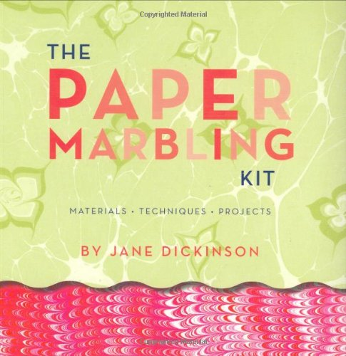 9780811848633: The Paper Marbling Kit: Materials, Techniques, Projects