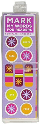 9780811856300: Mark My Words for Readers: Modern Flowers: Bookmark + Sticker Kit (6-pack)