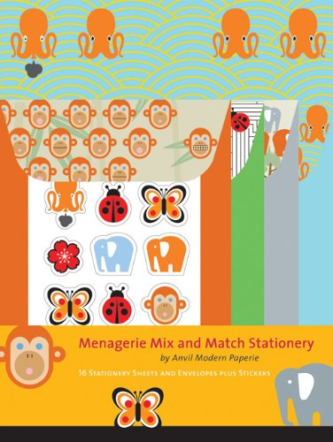 9780811860154: Menagerie Mix and Match Stationery