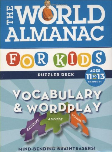 World Almanac Puzzler Deck: Vocabulary & Wordplay Ages 11-13 - Grades 6-7 (9780811861601) by Lynn Brunelle