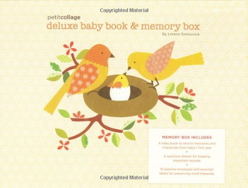 9780811868112: Petit Collage Deluxe Baby Book and Memory Box