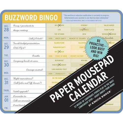 9780811869737: Buzzword Bingo: 2010 Paper Mousepad Calendar (Knock Knock)