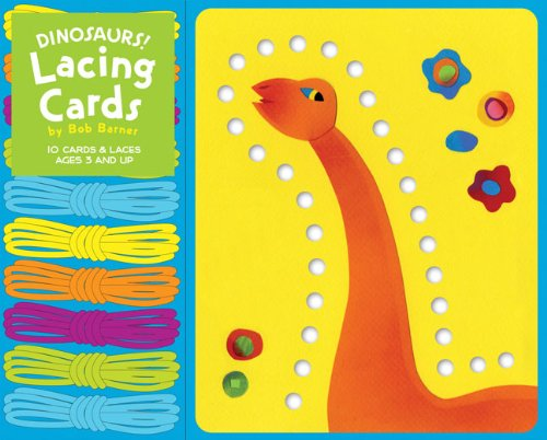 9780811869799: Dinosaurs! Lacing Cards