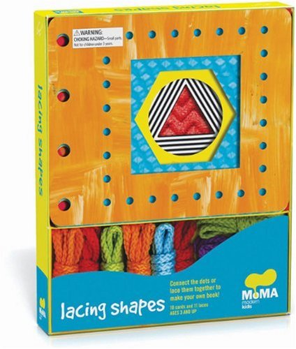 9780811873413: MoMA Modern Shapes Lacing Cards: 10 Cards & Laces (MoMA Modern Kids)