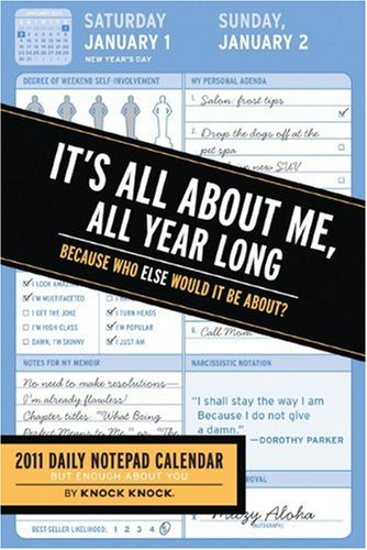 9780811874274: All About Me, All Year Long 2011 Notepad Calendar