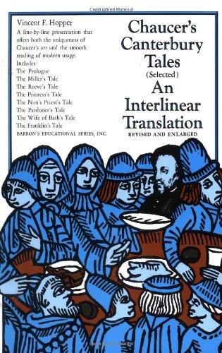 Beispielbild für Chaucer's Canterbury Tales (Selected): An Interlinear Translation zum Verkauf von Your Online Bookstore