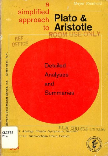 Plato and Aristotle: Major Works (Simplified Approach) (9780812001822) by Meyer Reinhold