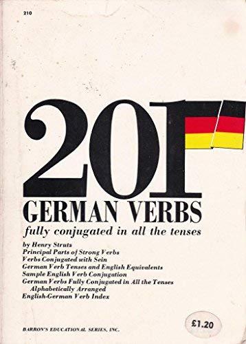 9780812002102: 201 German Verbs