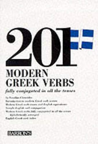 201 Modern Greek Verbs (201 Verbs Series): Vassilios Christides