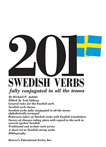 9780812005288: 201 Swedish Verbs: Fully Conjugated in All the Tenses; Alphabetically Arranged (201 Verbs Series)