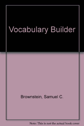 9780812009644: Vocabulary Builder