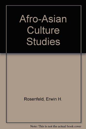 9780812009934: Afro-Asian Culture Studies