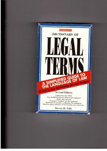 9780812014112: Dictionary of Legal Terms: A Simplified Guide to the Language of Law