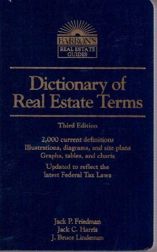 9780812014341: Dictionary of Real Estate Terms (Barron's Real Estate Guides)